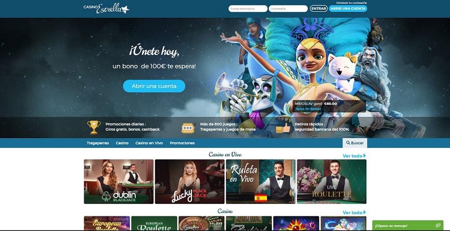 Bonos casino 2020 y promociones en Casino Estrella