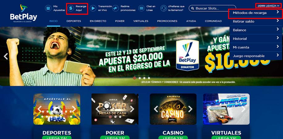 Casino en vivo Betplay Colombia