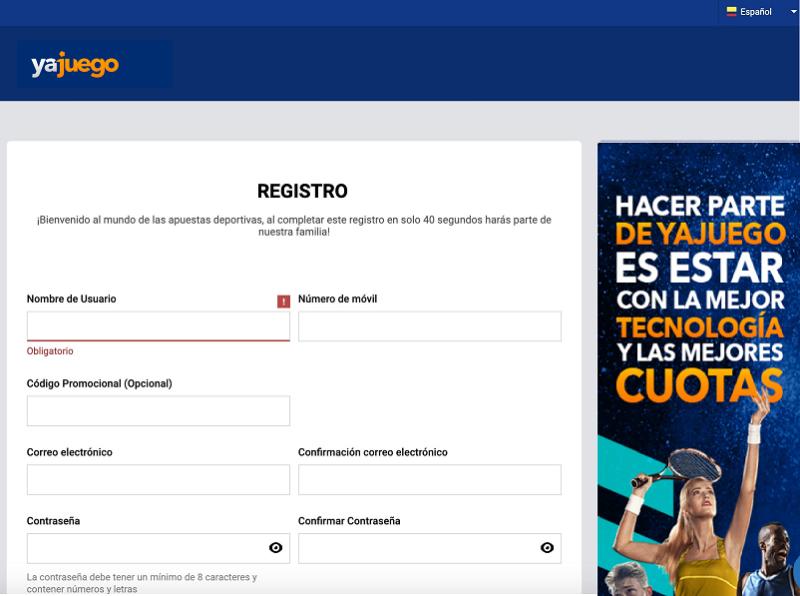 Cómo registrarse en YaJuego