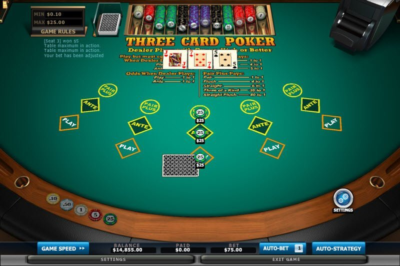 Obejtivo del Three Cards Poker
